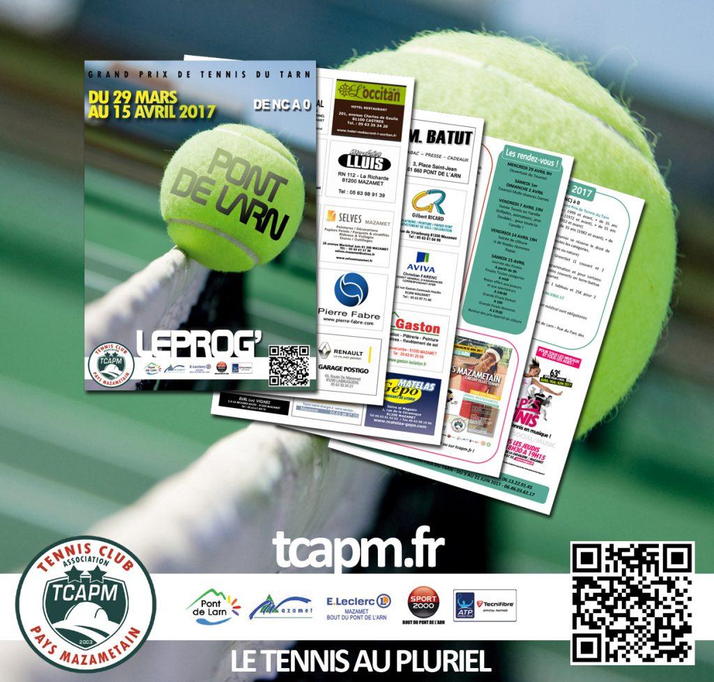 TCAPM - Pub programme Tournoi PDL 2017